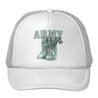 Army Wife Combat Boots N Dog Tags 2 Trucker Hat