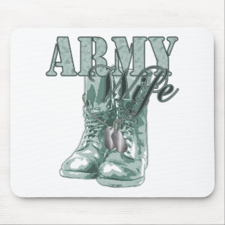 Army Wife Combat Boots N Dog Tags 2 Mouse Pad
