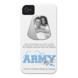 Army Wife Custom Photo in Dog Tags iPhone 4 Cases