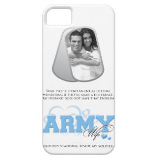 Army Wife Custom Photo in Dog Tags iPhone 5 Cases