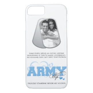 Army Wife Custom Photo in Dog Tags iPhone 7 Case