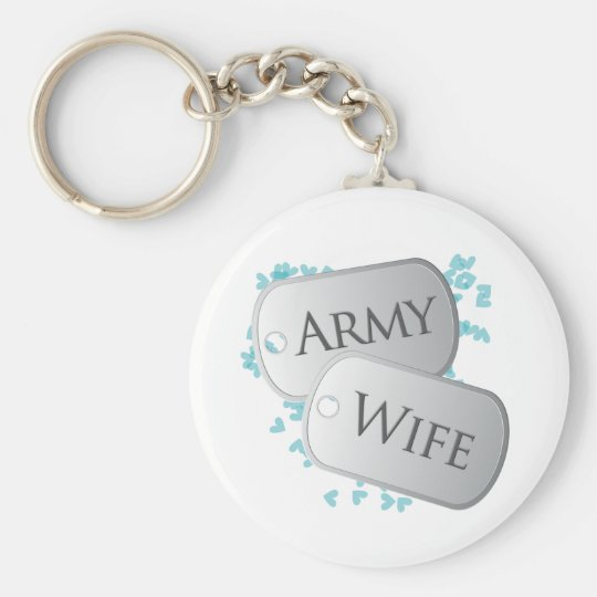 Army Wife Dog Tags Keychain