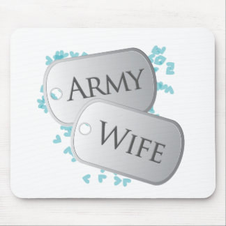 Army Wife Dog Tags Mouse Pad