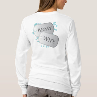 Army Wife Dog Tags T-Shirt