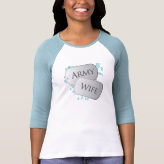 Army Wife Dog Tags Tees