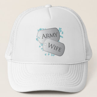 Army Wife Dog Tags Trucker Hat