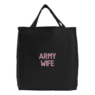 Army Wife Embroidered Bag