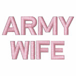 Army Wife Embroidered Hooded Sweatshirt
