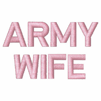 Army Wife Embroidered Hoody