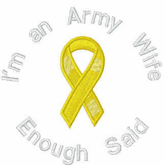 Army wife, Enough said Embroidered shirt