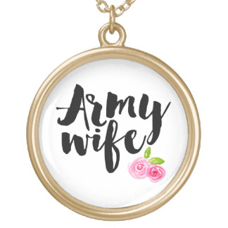 Army Wife Gold Plated Necklace