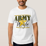 Army Wife Gold Star  Shirts