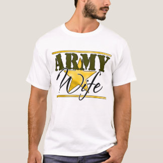Army Wife Gold Star  T-Shirt
