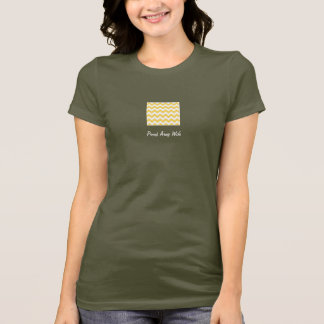 Army Wife Graphic T-shirt with Yellow Chevron