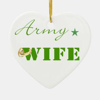 Army Wife (green) Ornament