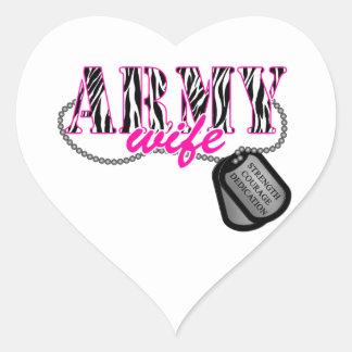 Army Wife Heart Sticker