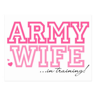 Army Wife in training Postcard