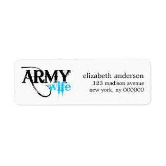 Army Wife Label