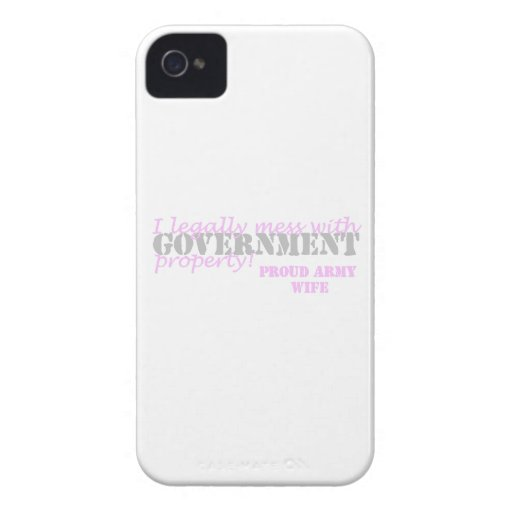 Army Wife Legally Mess iPhone 4 Covers