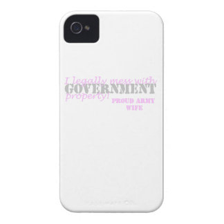 Army Wife Legally Mess with Govt Property iPhone 4 Case-Mate Case
