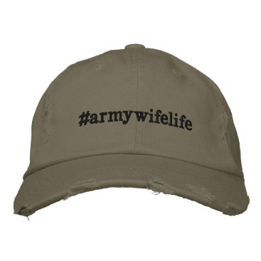 Army Wife Life Distressed Baseball Cap Hat