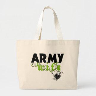 Army Wife Locket Large Tote Bag