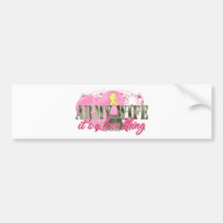 Army Wife Love Thing Car Bumper Sticker
