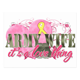 Army Wife Love Thing Postcard