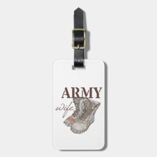 Army Wife Luggage Tag