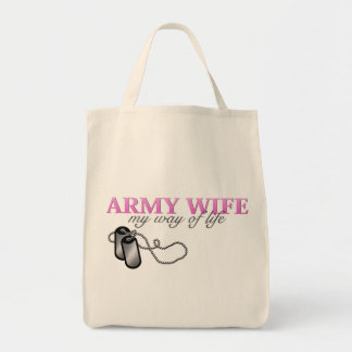Army Wife, my way of life Canvas Bag