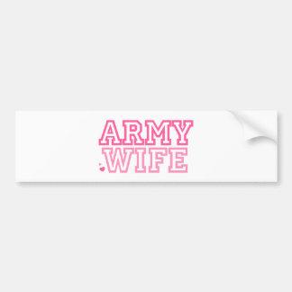 Army Wife (pink) Bumper Sticker