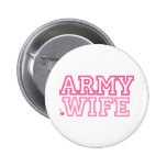 Army Wife (pink) Pinback Buttons