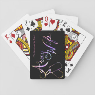 Army Wife Playing Cards