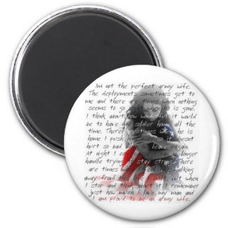 Army wife poem 2 inch round magnet