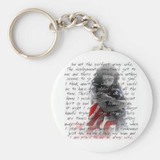 army wife poem keychain