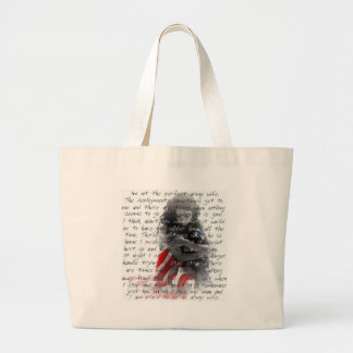 Army wife poem large tote bag