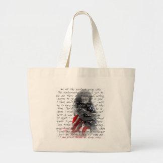 Army wife poem large tote bag