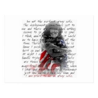 Army wife poem postcard