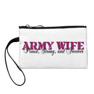 Army Wife Proud Strong and Forever Coin Purse