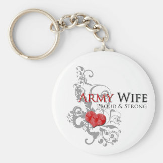 Army Wife - Proud & Strong Keychain