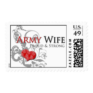 Army Wife - Proud & Strong Postage