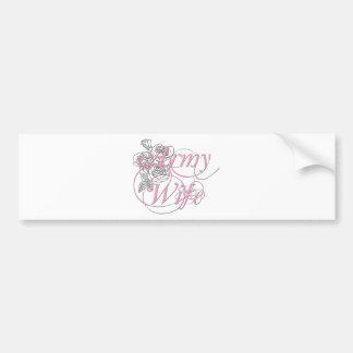 Army wife rose bumper sticker
