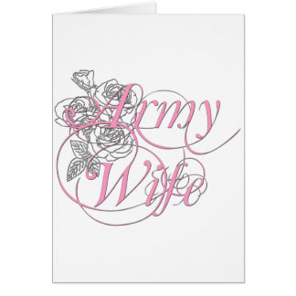 Army wife rose greeting card