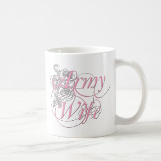 Army wife rose coffee mug