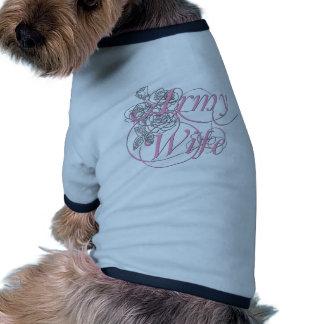 Army wife rose dog shirt