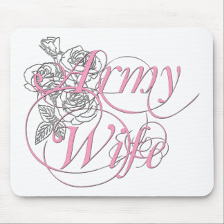 Army wife rose mouse pad