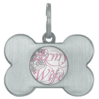 Army wife rose pet name tag