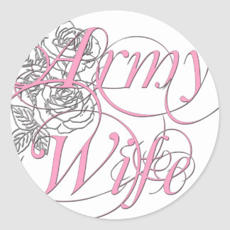 Army wife rose stickers