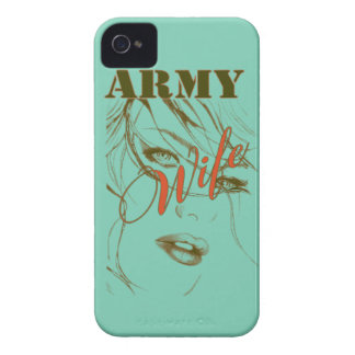 Army Wife Sillouette iPhone 4 Case-Mate Cases