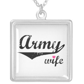 Army Wife Silver Plated Necklace